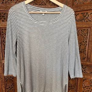 Sonoma striped size large top high low